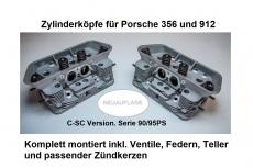 Zylinderköpfe für Porsche 356 und 912 fertig bestückt